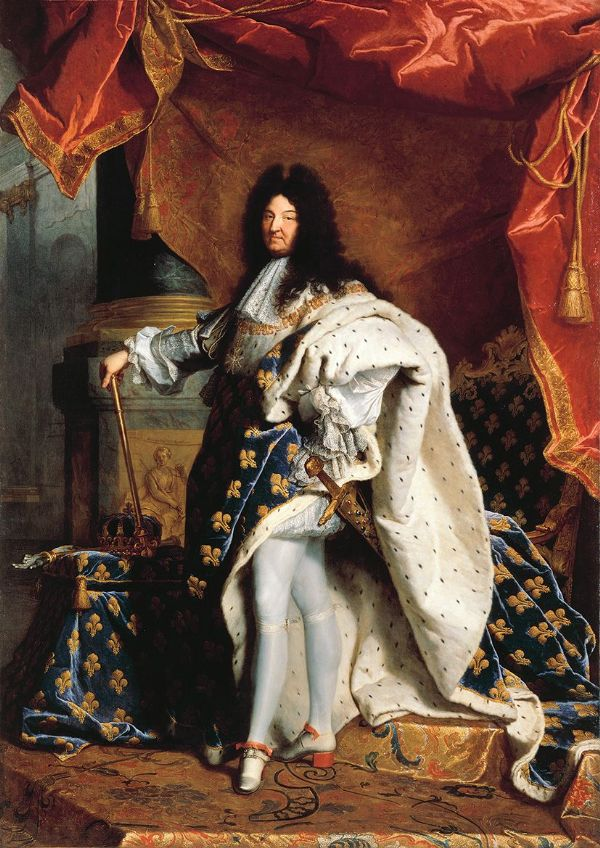 Rigaud, Hyacinthe Francois: Louis XIV (14th) of France in Royal Costume. Fine Art Portrait Print/Poster. Sizes: A4/A3/A2/A1 (00856)